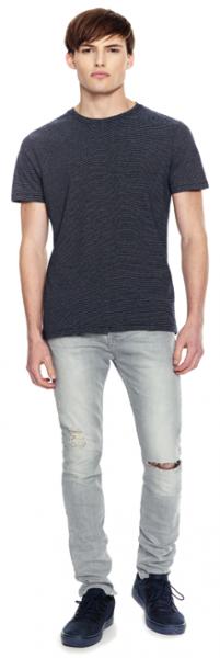 Nadelstreifen Bio Jersey T-Shirt