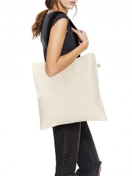 Bio Einkaufstasche mit bunten Trägern