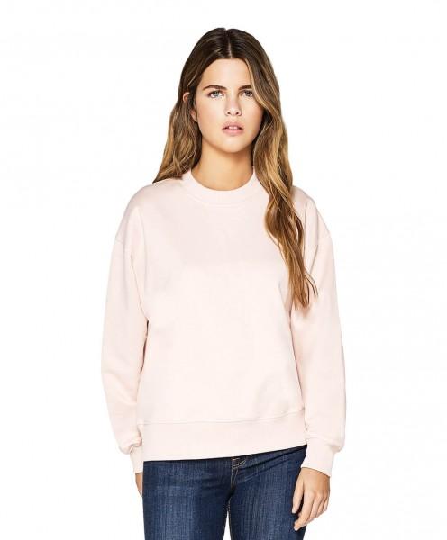 Damen Sweatshirt mit fallender Schulterpartie