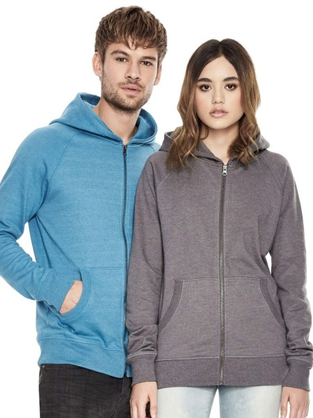 Melierter Recycelter Zip-Up Hoody