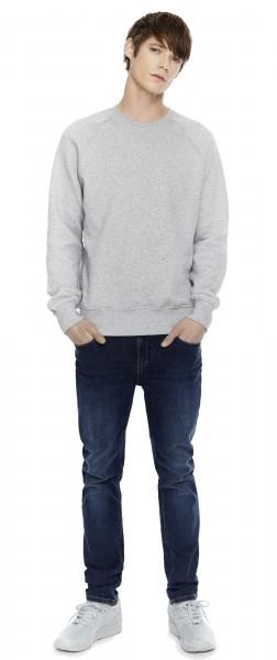 Raglan Sweatshirt, grey marl