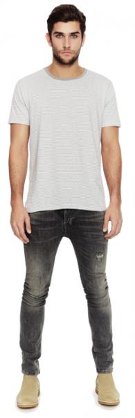 Gestreiftes Bio Jersey T-Shirt