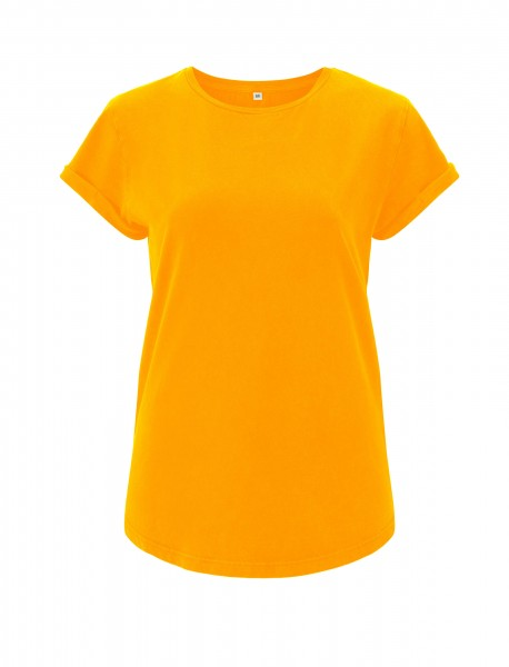 Rolled Sleeve T-Shirt, gold