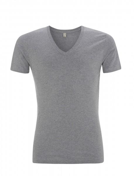 Meliertes Bio V-Neck T-Shirt
