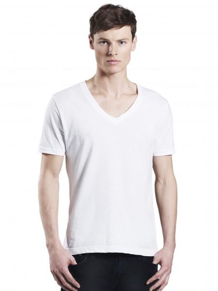 Mens V-Neck T-Shirt, weiß