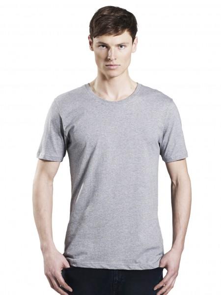 Grau-meliertes Slim Fit T-Shirt aus Bio-Baumwolle